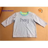 Buy cheap Fashion Custom Toddler T Shirts , Hey Graphic Print Baby Boy Long Sleeve Tops from wholesalers
