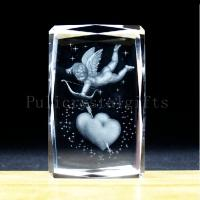 Buy cheap 3D laser crystal cube gift for home decoration/holiday supplier valentine day gift from wholesalers