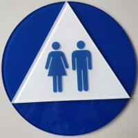 Buy cheap Clear Acrylic Braille Toilet Signs , 12X12 Disabled Toilet Sign With OEM Service from wholesalers