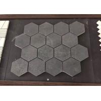 Buy cheap Honed Finish Hexagon Basalt Floor Tiles Mesh , Marble Mosaic Floor Tile from wholesalers