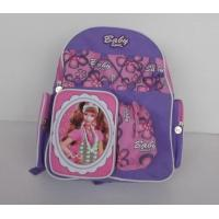 Buy cheap Pretty Cartoon Character Backpacks , Personalized Kids Backpacks Purple from wholesalers