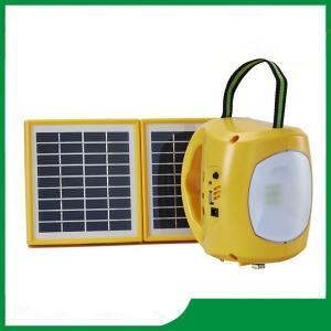 China Led solar lantern, solar camping lantern brightness with mobile phone charger / 2pcs solar panel / 9pcs led lights on sale