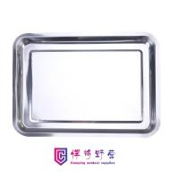 Buy cheap SK08 Stainless steel square tray, rectangular tray, iron tray, commercial barbecue tray, grilled fish tray from wholesalers