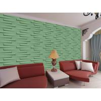 Buy cheap Removable Decorative Wall Panel 3D Wallpapers For Home Wall Decor Green / Yellow from wholesalers