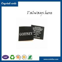 Buy cheap Quadrate centerfold woven label,,iron woven label,custom woven label from wholesalers