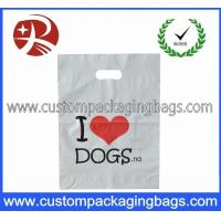 Buy cheap Biodegradable Die Cut Handle Plastic Bags With Bottom Gussets For T-Shirt from wholesalers