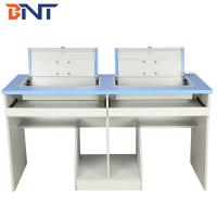 Buy cheap Anti Rust Double Student Computer Desk With Flip Up Hidden LCD Screen Case from wholesalers
