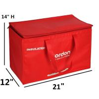Buy cheap Thermal Insulated Cooler Tote Bags / Outdoor Disposal Lunch Bag For School from wholesalers