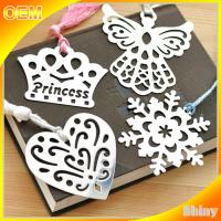 Buy cheap Etched Steel Metal Christmas Ornaments Personalized , Custom Metal Bookmarks from wholesalers
