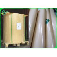 Buy cheap Water Resistant 40gsm PE Coated Kraft Paper 90cm Roll In Brown & White from wholesalers