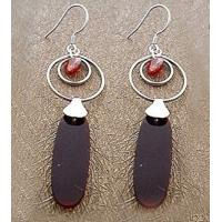Buy cheap Fashion exquisite craft Sterling silver gemstone earring jewelry with agate from wholesalers