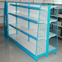 Buy cheap Gondola Shelving Blue Light Duty Display Rack With Wire Mesh or Steel Board Side from wholesalers