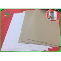 Buy cheap Recycled Wood Pulp White Coated Duplex Board With Grey Back For Notebook from wholesalers