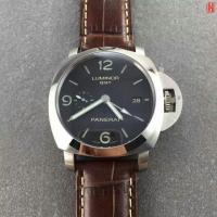 Buy cheap Panerai LUMINOR 1950 Series PAM00320 Automatic Brown Leather Strap GMT watch from wholesalers