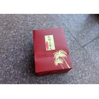 Buy cheap Hard Paper Custom Made Shopping Bags , Boutique Shopping Bags Red Color from wholesalers