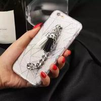 Buy cheap Soft TPU Lozenge Metal Chain Rope Cell Phone Case Back Cover for iPhone 7 6 6s Plus from wholesalers