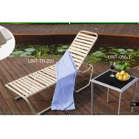 Buy cheap Indoor / Outdoor Folding Patio Sun Loungers Chair For Beach / Pool Deck from wholesalers