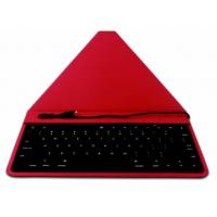 Buy cheap Red 12.9 Inch IPad Wired Keyboard With Lighting Leather For Ipad Pro product
