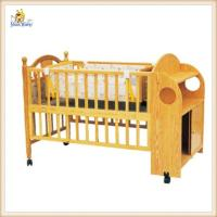 Buy cheap Personalised Lengthen Wooden Baby Swing Crib With Wheels Brakes Cabinet from wholesalers