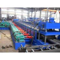 Buy cheap High Speed Three Waves Guardrail Roll Forming Machine with 5.5Kw Hydraulic Power Cutting product