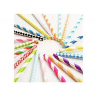 Buy cheap Degrading Kraft Paper Colored Paper Straws Long 20cm With Caliber 0.5cm from wholesalers