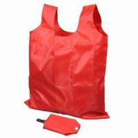 Buy cheap Foldable Polyester/Nylon Shopping Bag with Self Material Pouch Packaging and Plastic Carry Hook  product