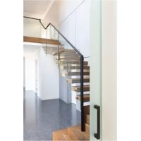 Quality Clear glass railing floating stair for sale