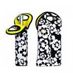 Custom high quality neoprene 6 pack wine bottle cooler tote bag for party