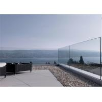 Buy cheap Frameless Glass Railing Aluminum U Channel Base Glass Balcony Railing from wholesalers