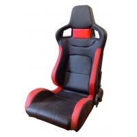 Buy cheap PVC Adjustable Red And Black Racing Seats / Sports Car Seat with single slider product