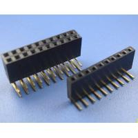 Buy cheap Shrouded Type Female Box Header PC Board Connector With Gold Plate Pin , SMT from wholesalers