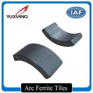 China High Efficiency Arc Ferrite Magnet Segment Shape Ferrite Magnetic Tiles on sale