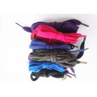 Buy cheap Nylon Waxed Flat Shoe Laces with Plastic Tips , High Tenacity from wholesalers