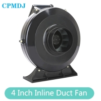 Buy cheap Flexible  300 Cfm  4 Inch 100mm Inline Bathroom  Exhaust Ducted Fan Motor product