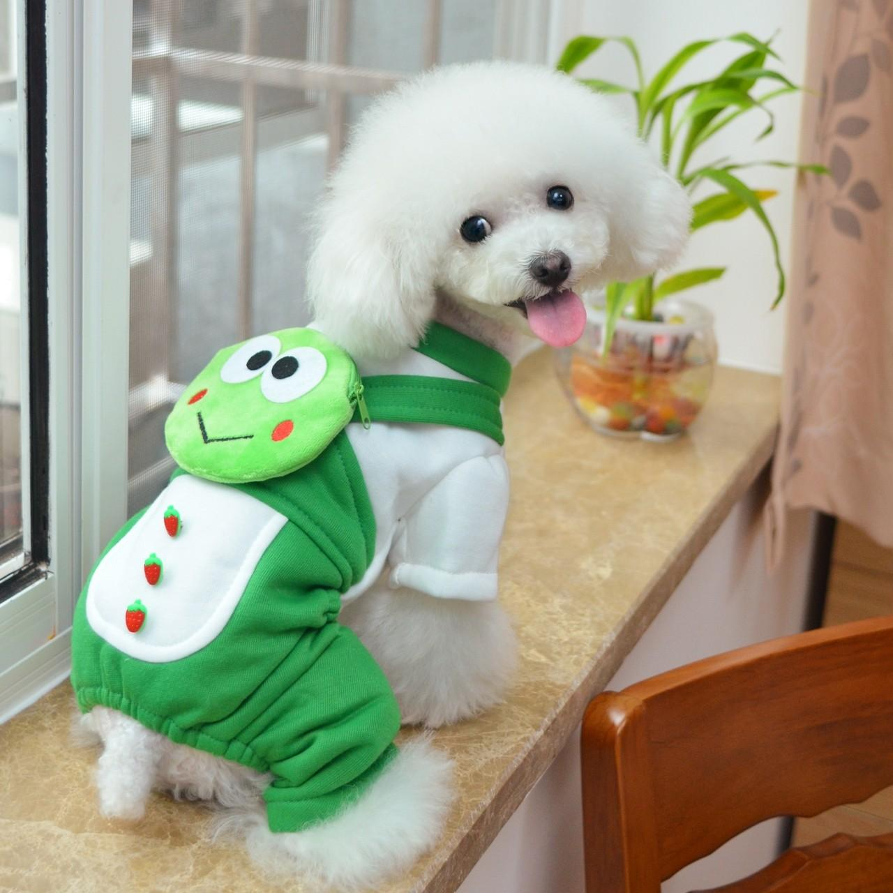 Buy cheap New design Frog shape 100% Cotton Personalized Dog Clothes from wholesalers