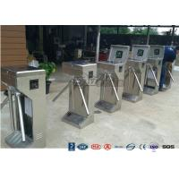 Buy cheap Stainless Steel Bi - Directional Turnstile Security Gates With Fingerprint Ticketing System product