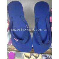 China Blue Orange Green Pink Printing OEM Foam Slippers Uniex Plus Size EVA Flip Flops on sale