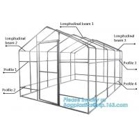 Buy cheap hdpe woven greenhouse film, plastic roof transparent cover for green house,Good services hot galvanized structure big wa from wholesalers