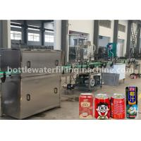 Buy cheap Juice / Milk Beverage Filling Machine , Aluminum Can Filling Sealing Machine from wholesalers