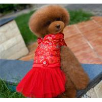 Buy cheap Red Cute bling Lace medium Pet Dog Cat puppy Clothes dress for party from wholesalers