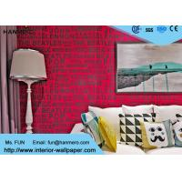Buy cheap Red Color English Words House Decoration Modern Removable Wallpaper from wholesalers