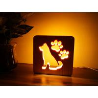 Buy cheap Blank Wooden Laser Engrave Pet Aftercare Tribute Memorial LED Light Candle Dog and Paws, MOQ 1 PC from wholesalers