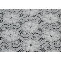 Buy cheap White Elastic Lace 80% Nylon 20% Spandex Fabric Beautiful Elegant CY-LW0783 from wholesalers