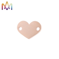 Buy cheap Anti Allergic 2 Hole SS304 Heart Charm For DIY Crafting Jewelry Making from wholesalers