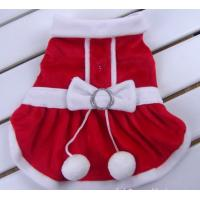 Buy cheap Pet Dog Apparel Winter clothes Coat Merry Christmas Clothing Coat Red Gift Customized from wholesalers