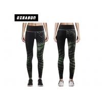 Buy cheap Quickly Dry Ladies' Compression Jogger Pants Black Leggings For Gym from wholesalers