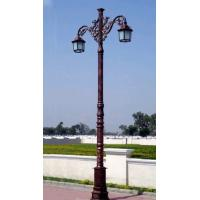 Buy cheap Classic Western Style Cast Iron Light Pole Painting Surface Treatment For Garden from wholesalers