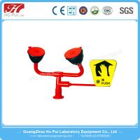 Buy cheap Double Spray Head Laboratory Eyewash Station High Gloss Thick Plating from wholesalers