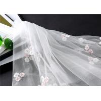 Buy cheap Graceful Mesh Lace Fabric 1.45 M , Customize Organza Lace Fabric Crocheted from wholesalers