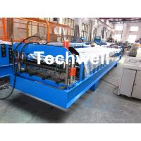 Buy cheap Steel Metal Wall Cladding Roof Roll Forming Machine With PLC Control System from wholesalers